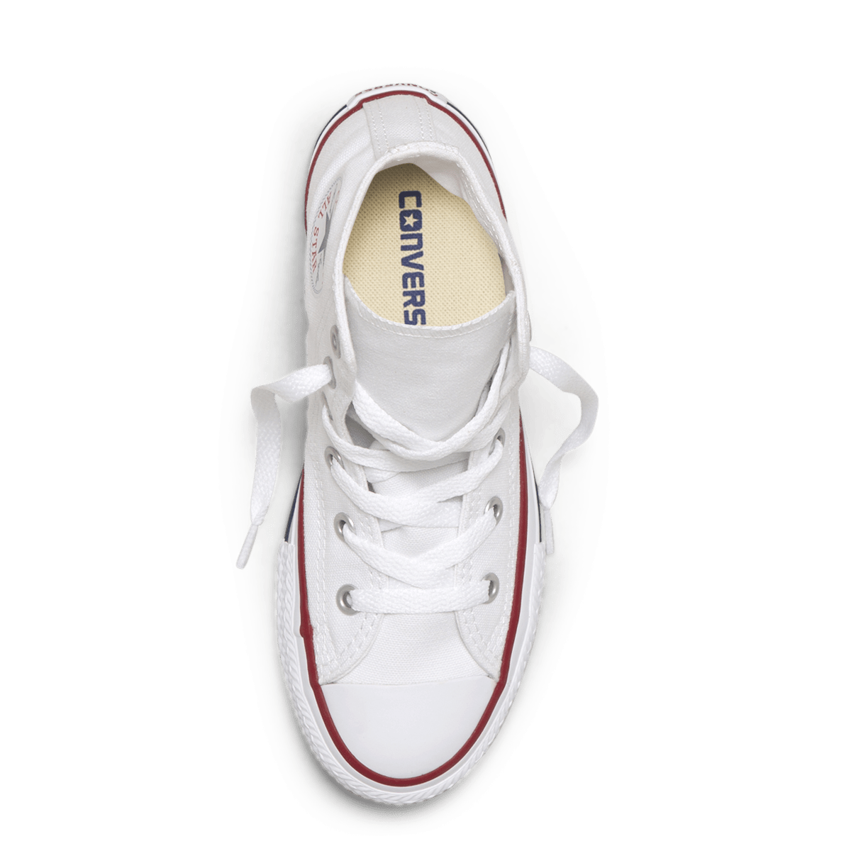 Chuck Taylor All Star Junior High Top White top side