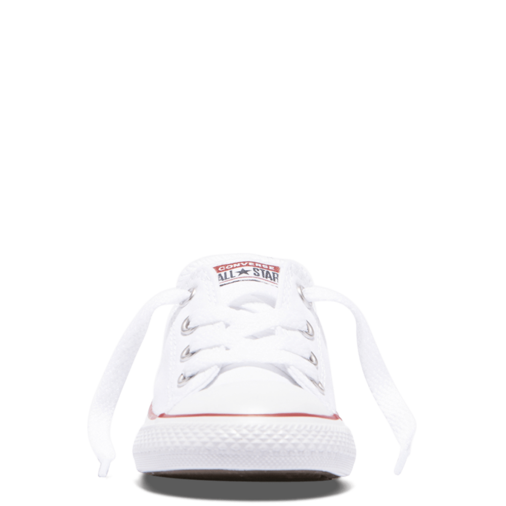 Chuck Taylor All Star Toddler Low Top White font side