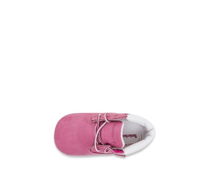 Timberland Crib Bootie Fuschia rose colour boots for toddlers top view