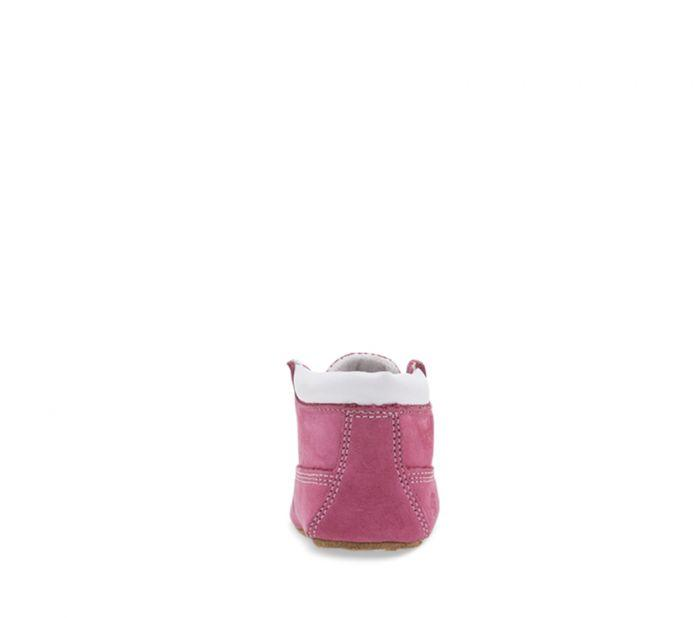 Timberland Crib Bootie Fuschia rose colour boots for toddlers back view