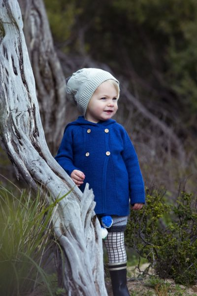 boy wearing grey olive branch beanie