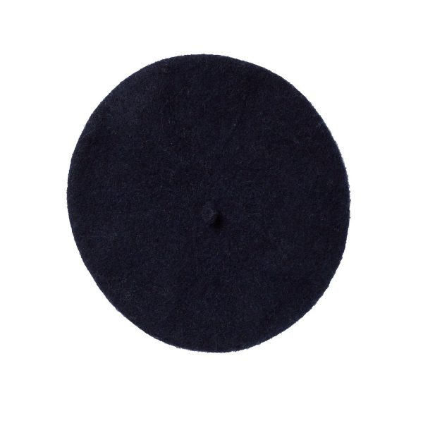 ivy wool beret navy top