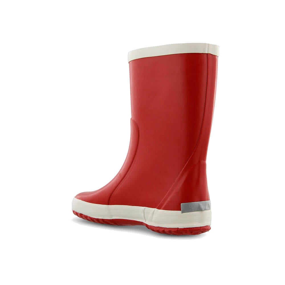Bergstein Gumboots Red back left