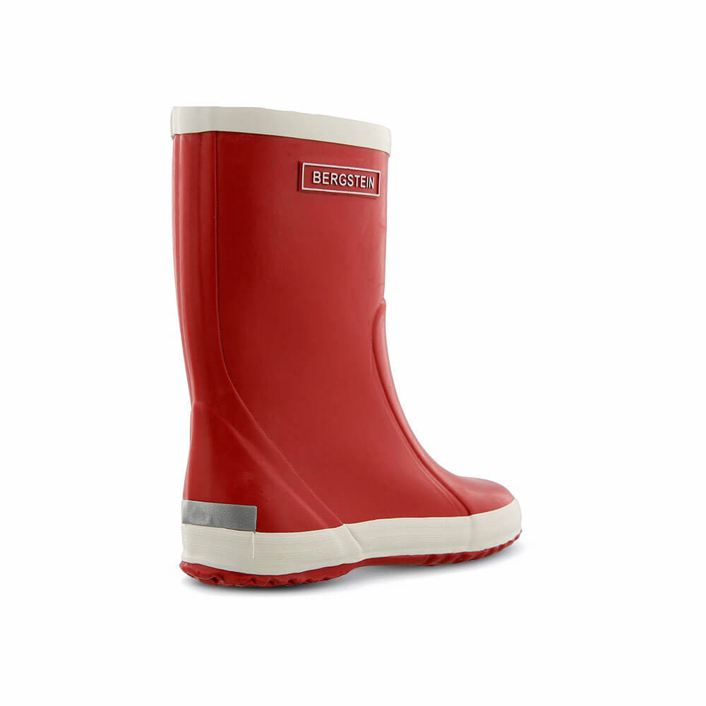 Bergstein Gumboots Red back right