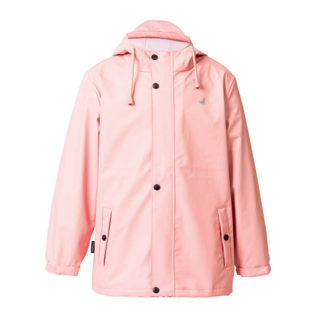 Crywolf blush front play jacket rain