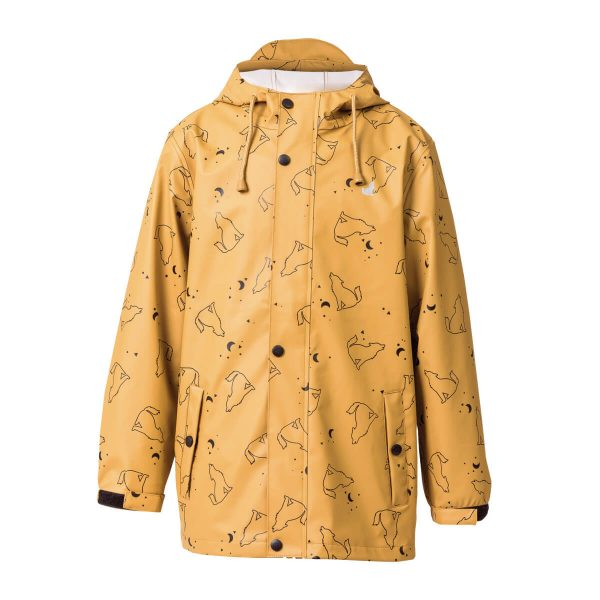 Crywolf wolf print front play jacket rain