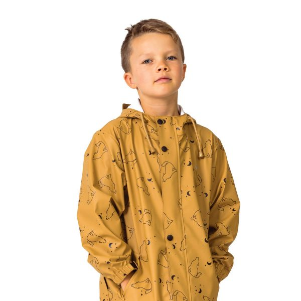 Crywolf wolf print play jacket rain