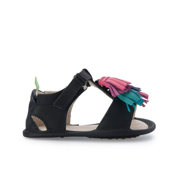 Tip Toey Joey Folksy Sandal - Black side