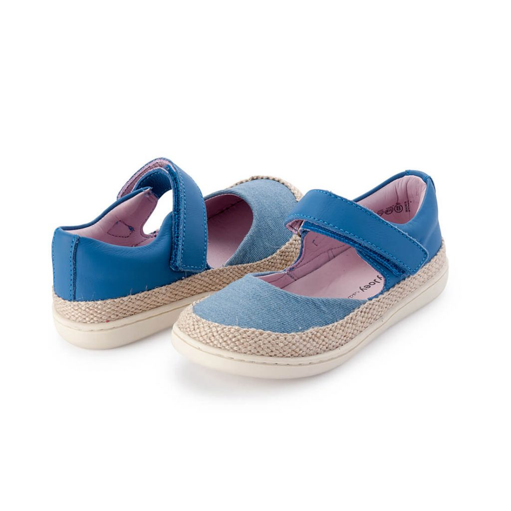 Little Seaside Sandals - Denim Espadrille angle