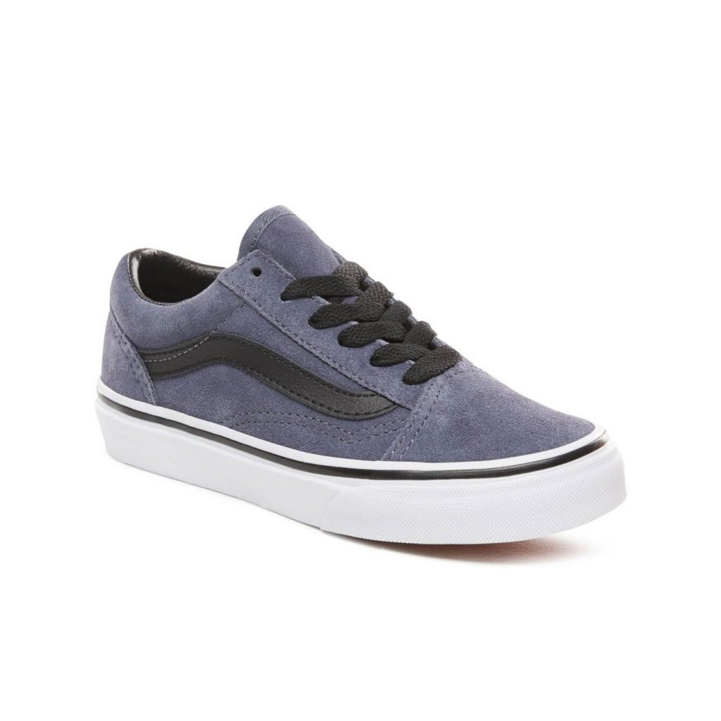 Vans Kids Old Skool V Shoes - Grisaille / Black (5+ yrs) - Angle