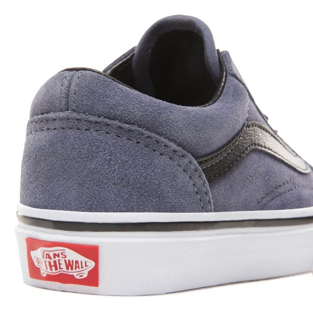 Vans Kids Old Skool V Shoes - Grisaille / Black (5+ yrs) - Back