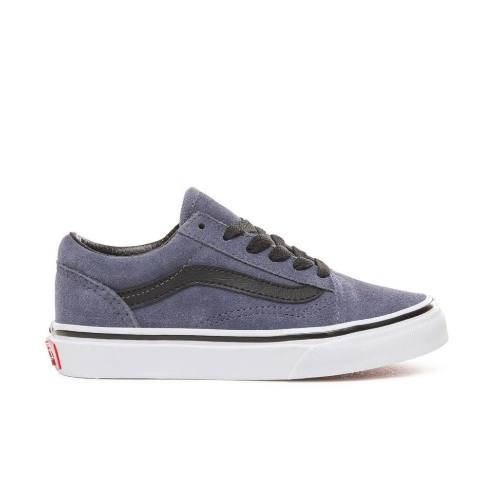 Vans Kids Old Skool V Shoes - Grisaille / Black (5+ yrs) - Side