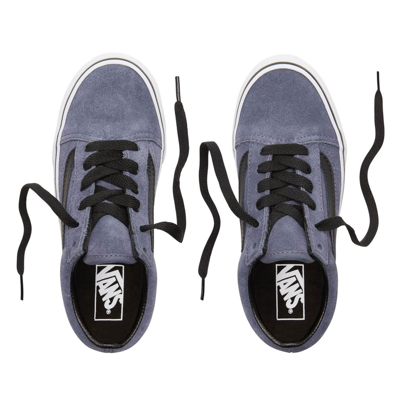 Vans Kids Old Skool V Shoes - Grisaille / Black (5+ yrs) - Top