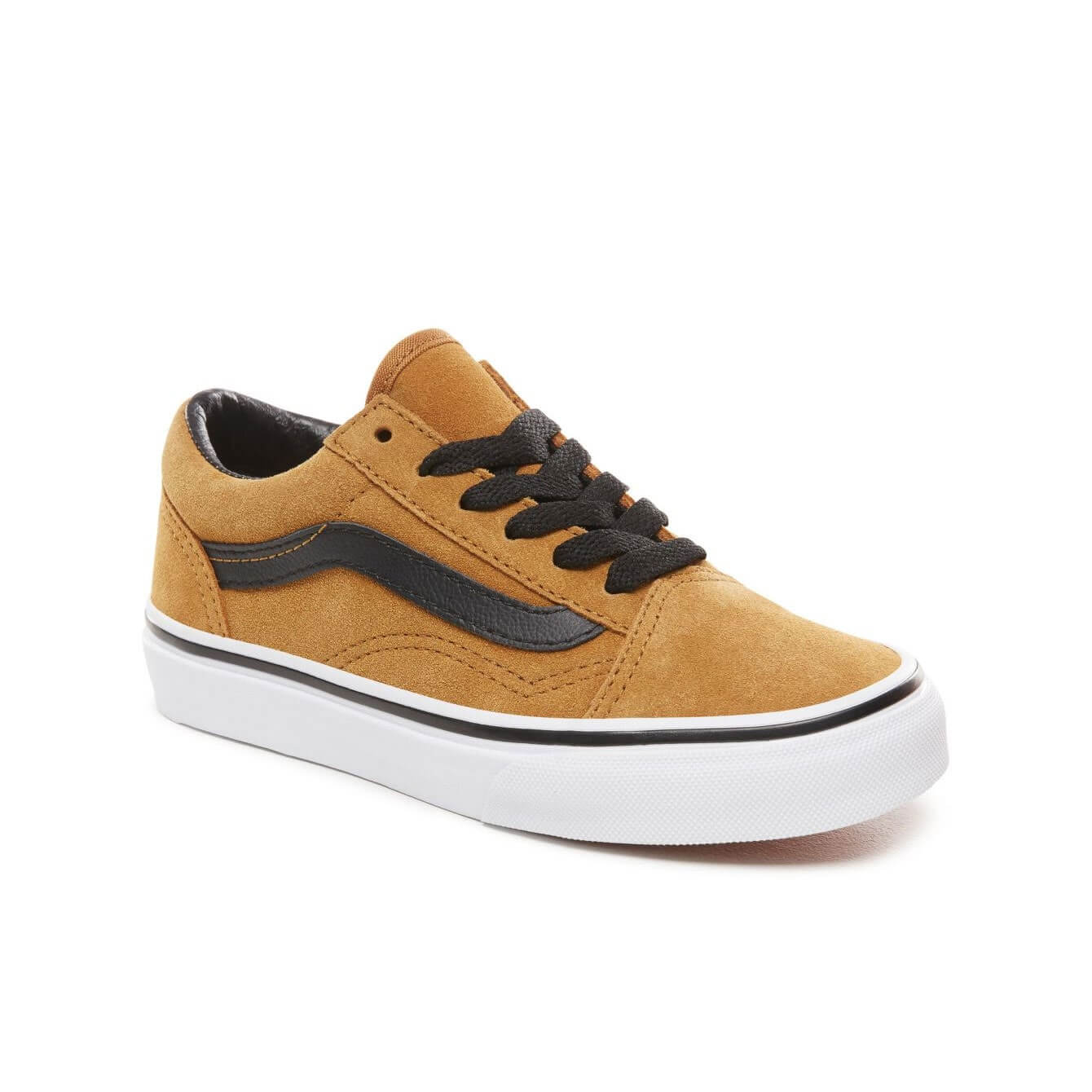 Vans Kids Old Skool V Shoes - Cumin / Black (5+ yrs) - Angle