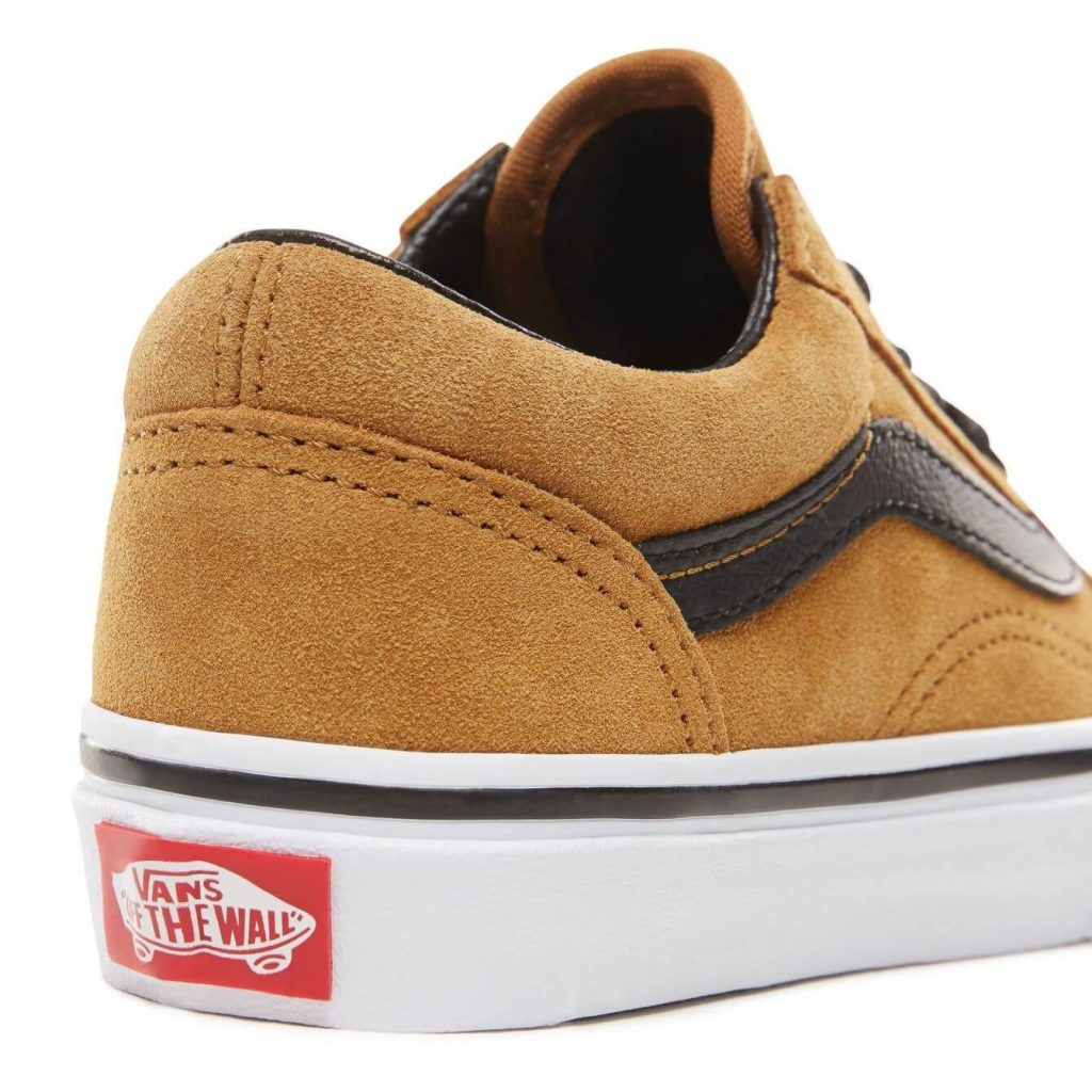 Vans Kids Old Skool V Shoes - Cumin / Black (5+ yrs) - Back