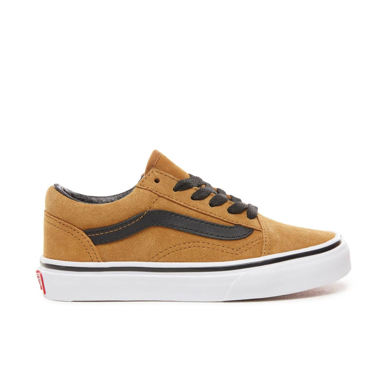 Vans Kids Old Skool V Shoes - Cumin / Black (5+ yrs) - Side