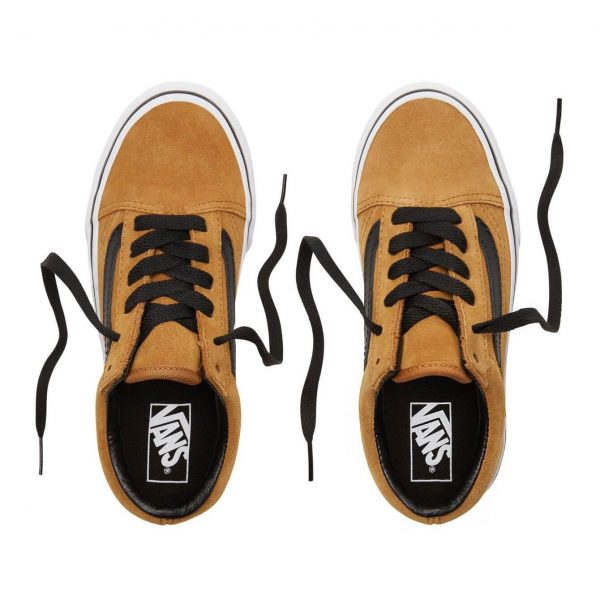 Vans Kids Old Skool V Shoes - Cumin / Black (5+ yrs) - Top