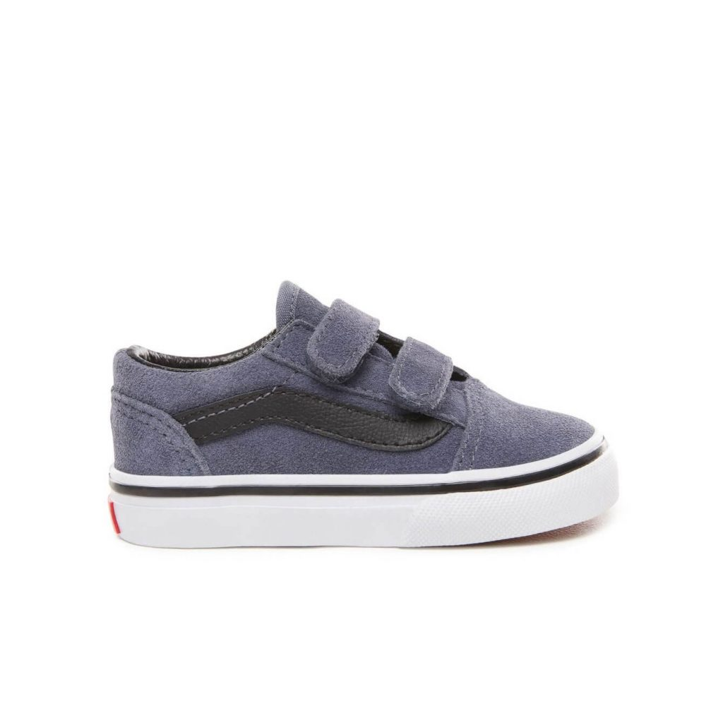 Vans Toddler Old Skool V Shoes - Grisaille   Black (1-4 yrs ... 5b4e0f41d