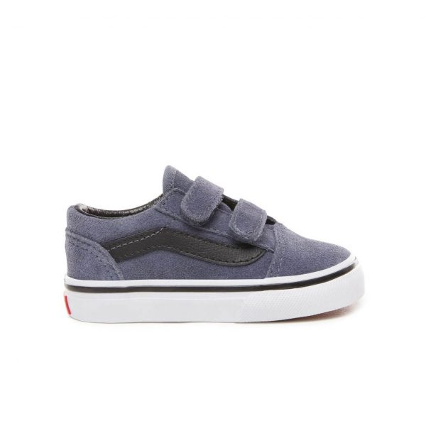 63685525ff ... Vans Toddler Old Skool V Shoes - Grisaille   Black - Side