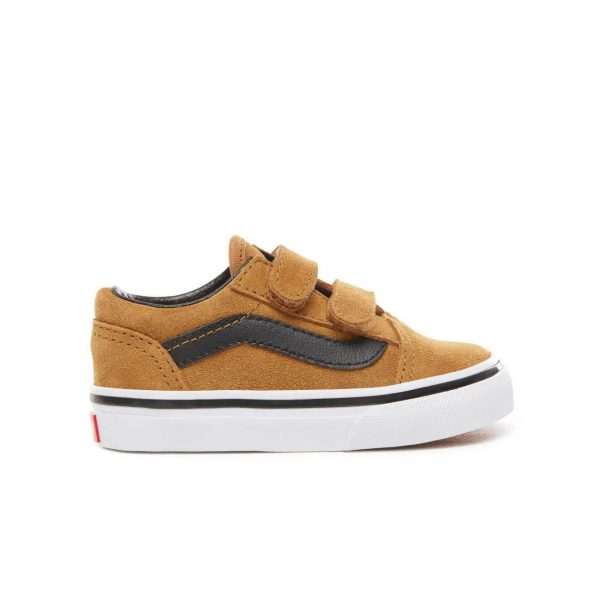 Vans Toddler Old Skool V Shoes - Cumin / Black (1-4 yrs) - Side