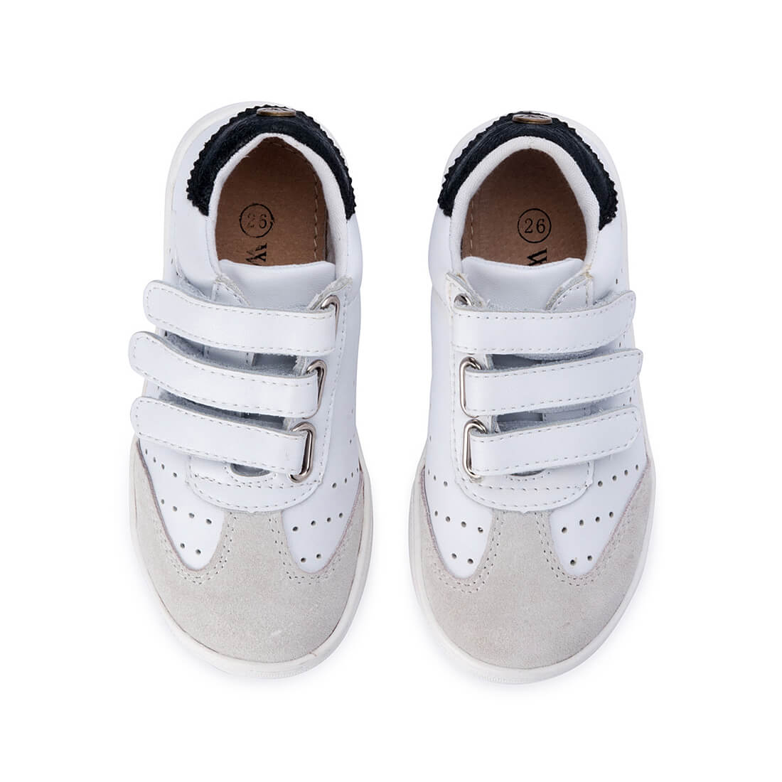 Andy Leather Sneaker - White top