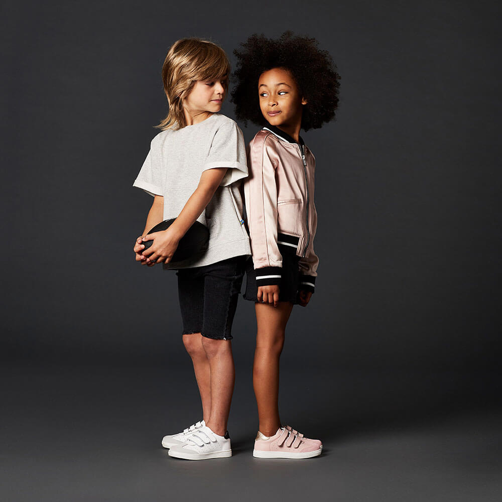 Andy Leather Sneaker - White boy and girl