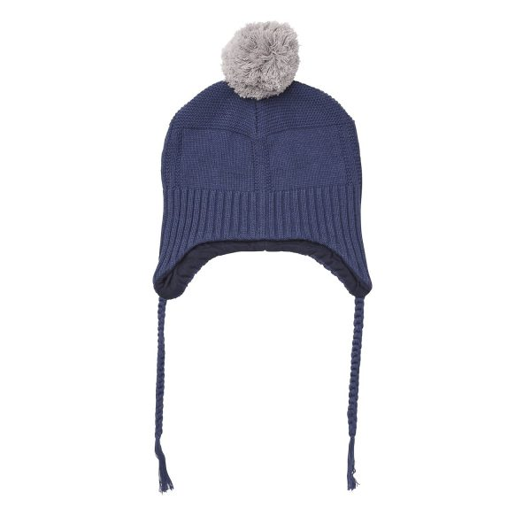 Acorn Kids Alpine Beanie Navy Flat