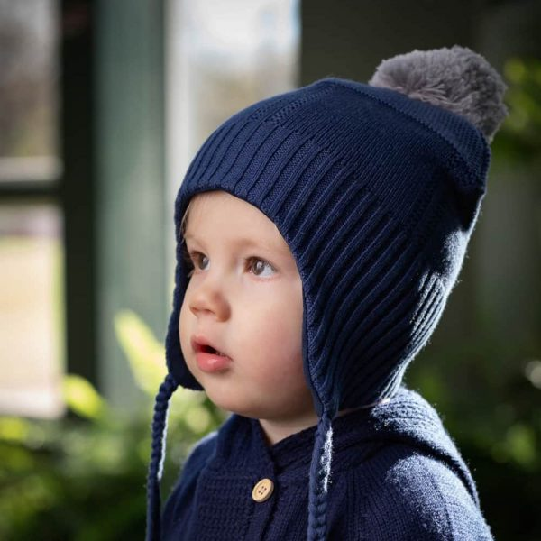Acorn Kids Alpine Beanie Navy Lifestyle