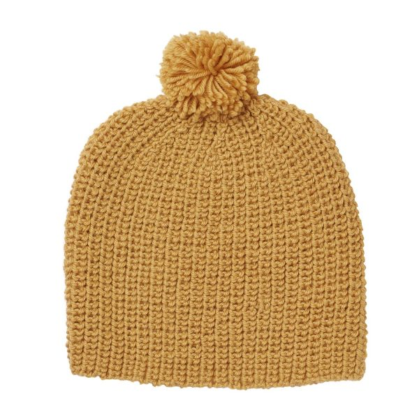 Acorn Kids Campside Beanie Mustard Flat