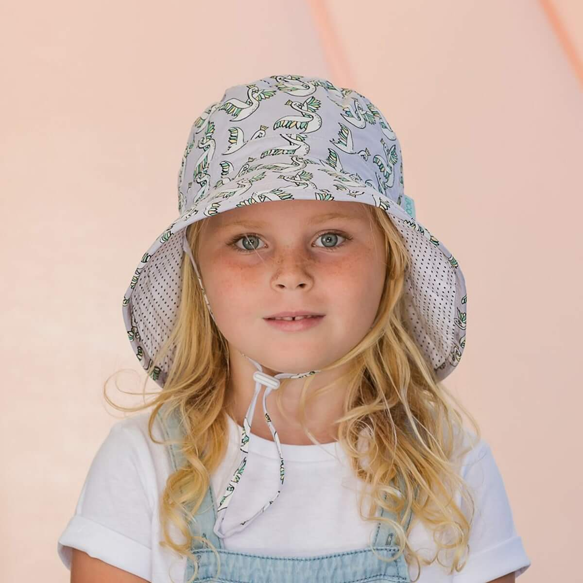 Acorn Kids Swans Bucket Hat