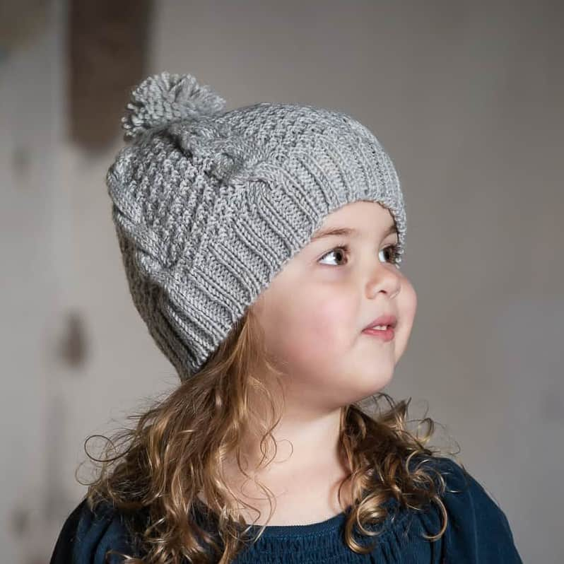 Acorn Kids Vines Beanie Grey Lifestyle 1