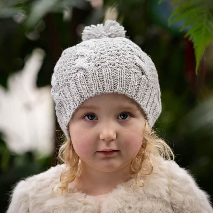 Acorn Kids Vines Beanie Grey Lifestyle 2