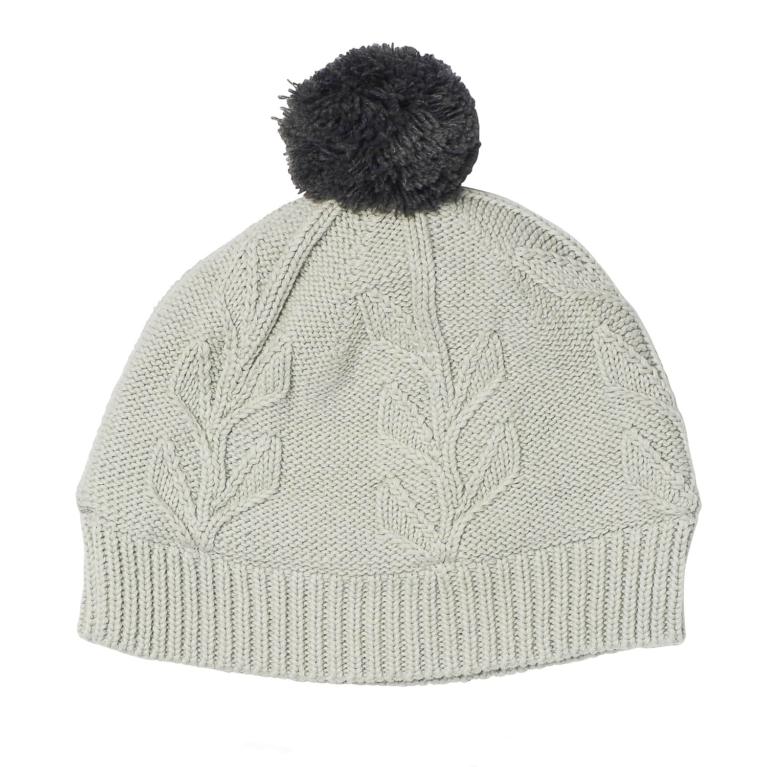 Acorn Kids Vines Infant Beanie Mitten Pack Grey Beanie