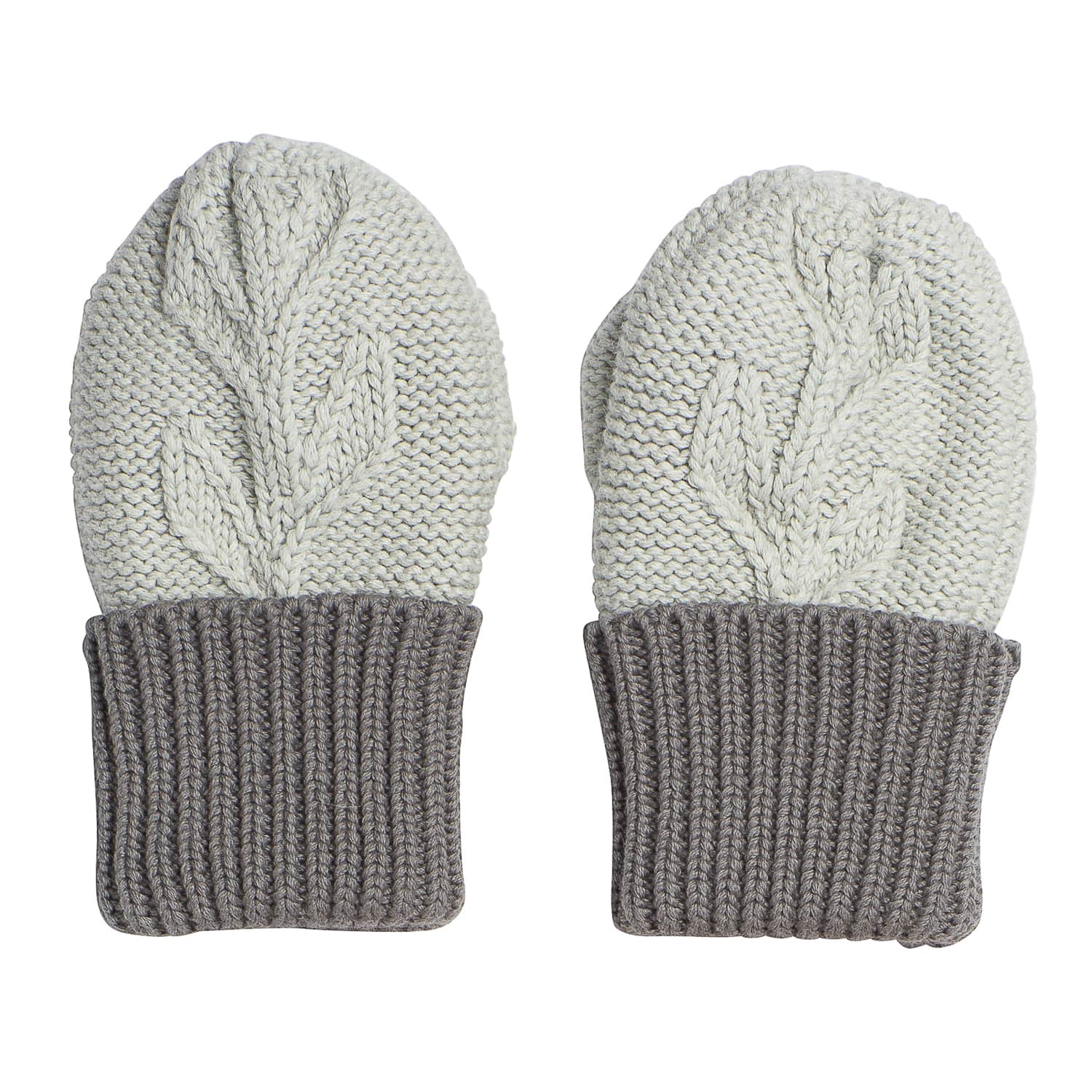 Acorn Kids Vines Infant Beanie Mitten Pack Grey Mittens