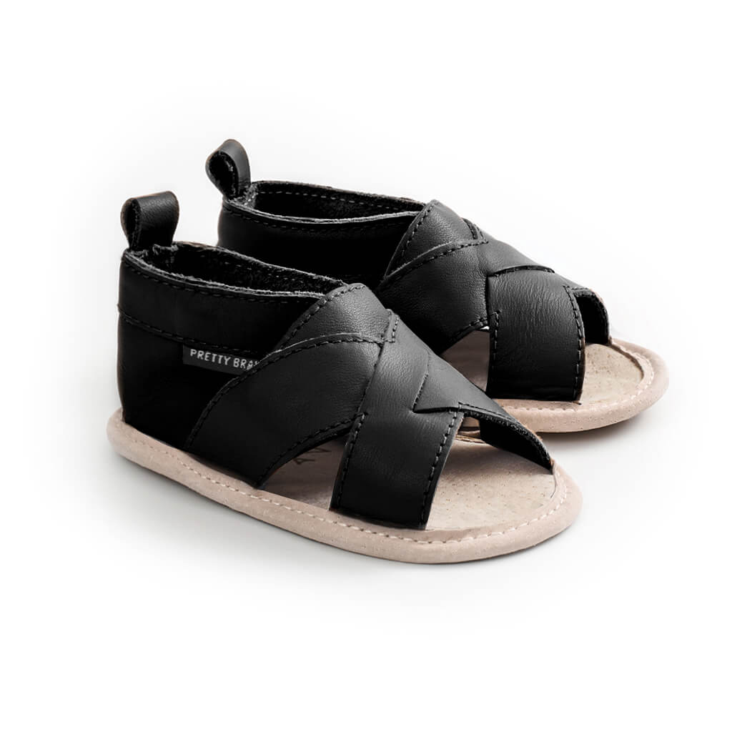 Pretty Brave Cross Over Sandal – Black pair