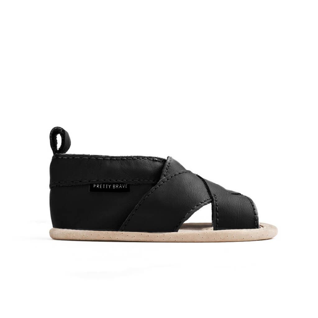 Pretty Brave Cross Over Sandal – Black side