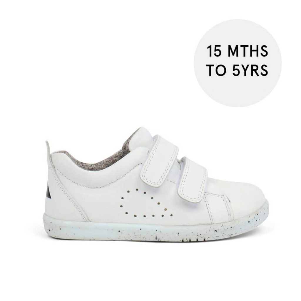 Bobux Grass Court I-Walk Sneakers – White with size