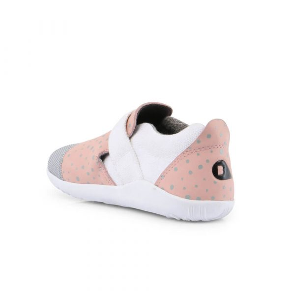 Bobux Aktiv Plus Sneaker - Blush/Silver Splash inside right