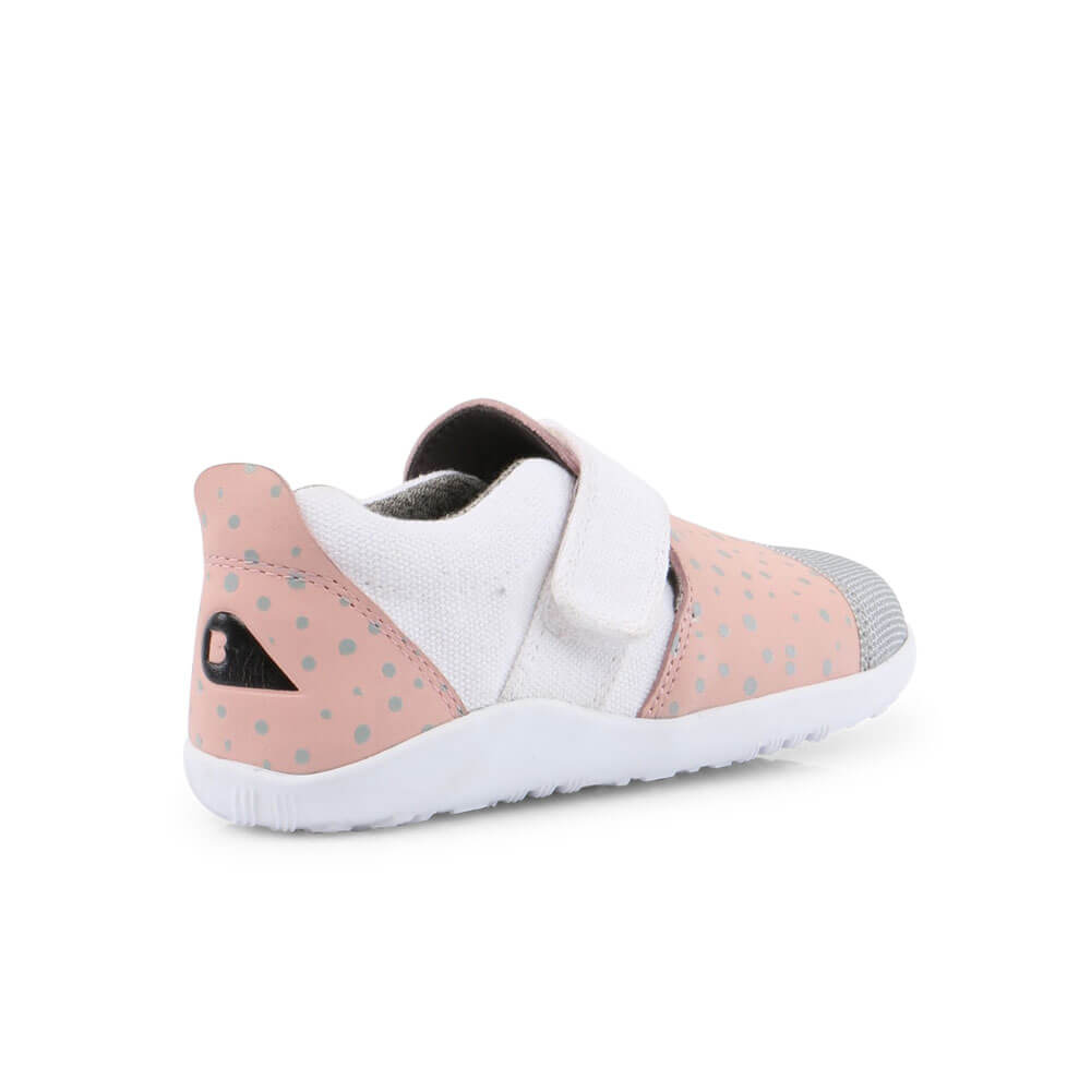 Bobux Aktiv Plus Sneaker - Blush/Silver Splash inside back