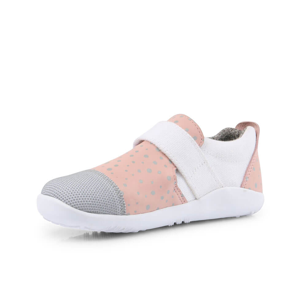 Bobux Aktiv Plus Sneaker - Blush/Silver Splash inside