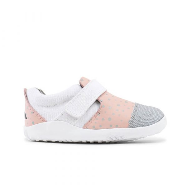 Bobux Aktiv Plus Sneaker - Blush/Silver Splash side