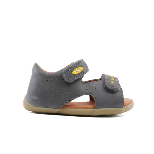Bobux Boys Trek Leather Sandal - Charcoal side