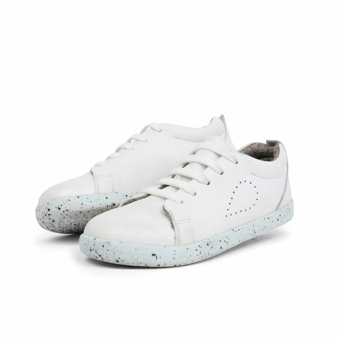 Bobux Grass Court Kid+ Sneakers – White angle