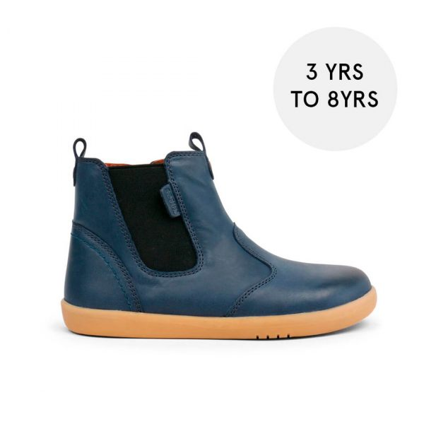 Bobux Jodphur Kid+ Boots – Navy side with size