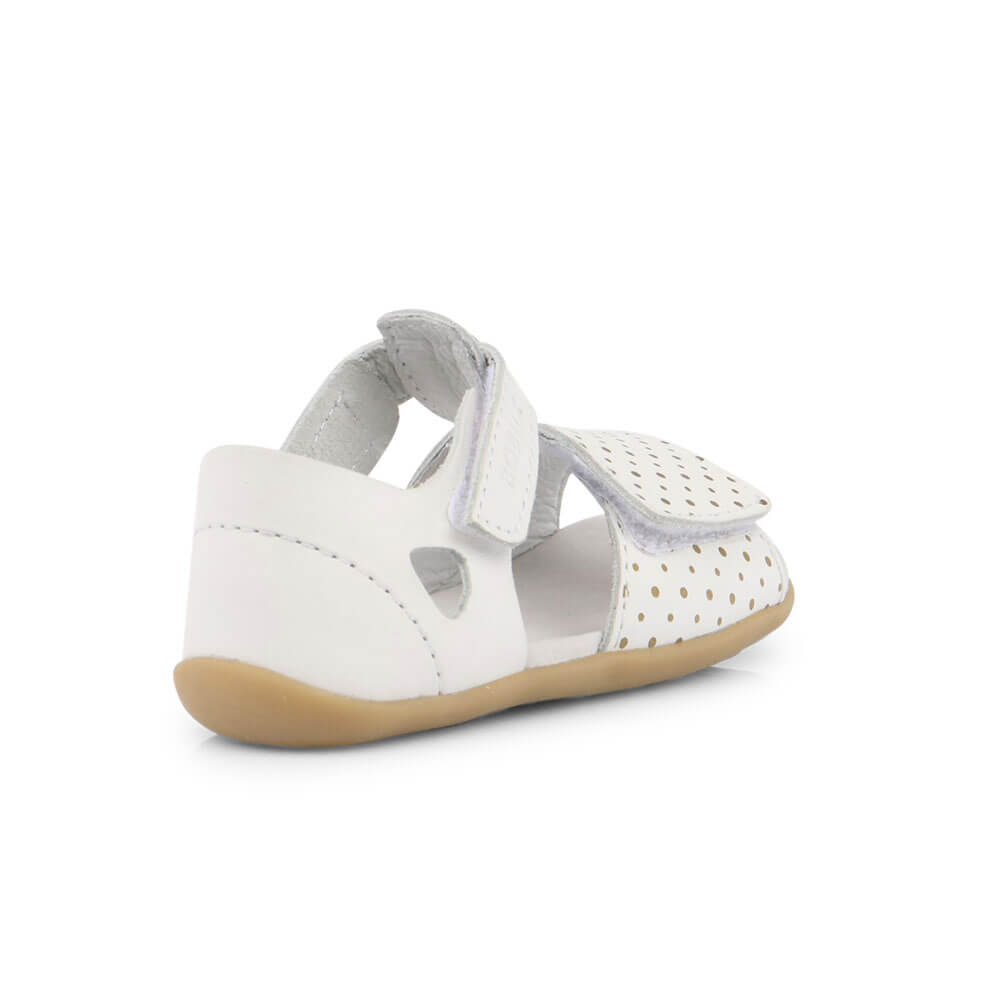 Bobux Mirror Sandal - White with Gold inside