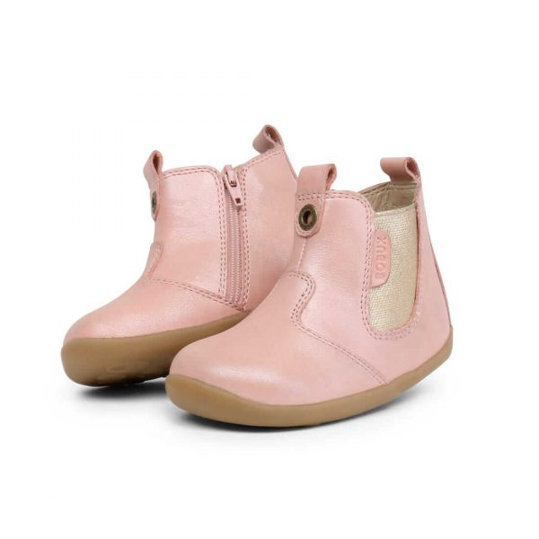 Bobux Jodphur Step Up Boots – Blush Shimmer angle