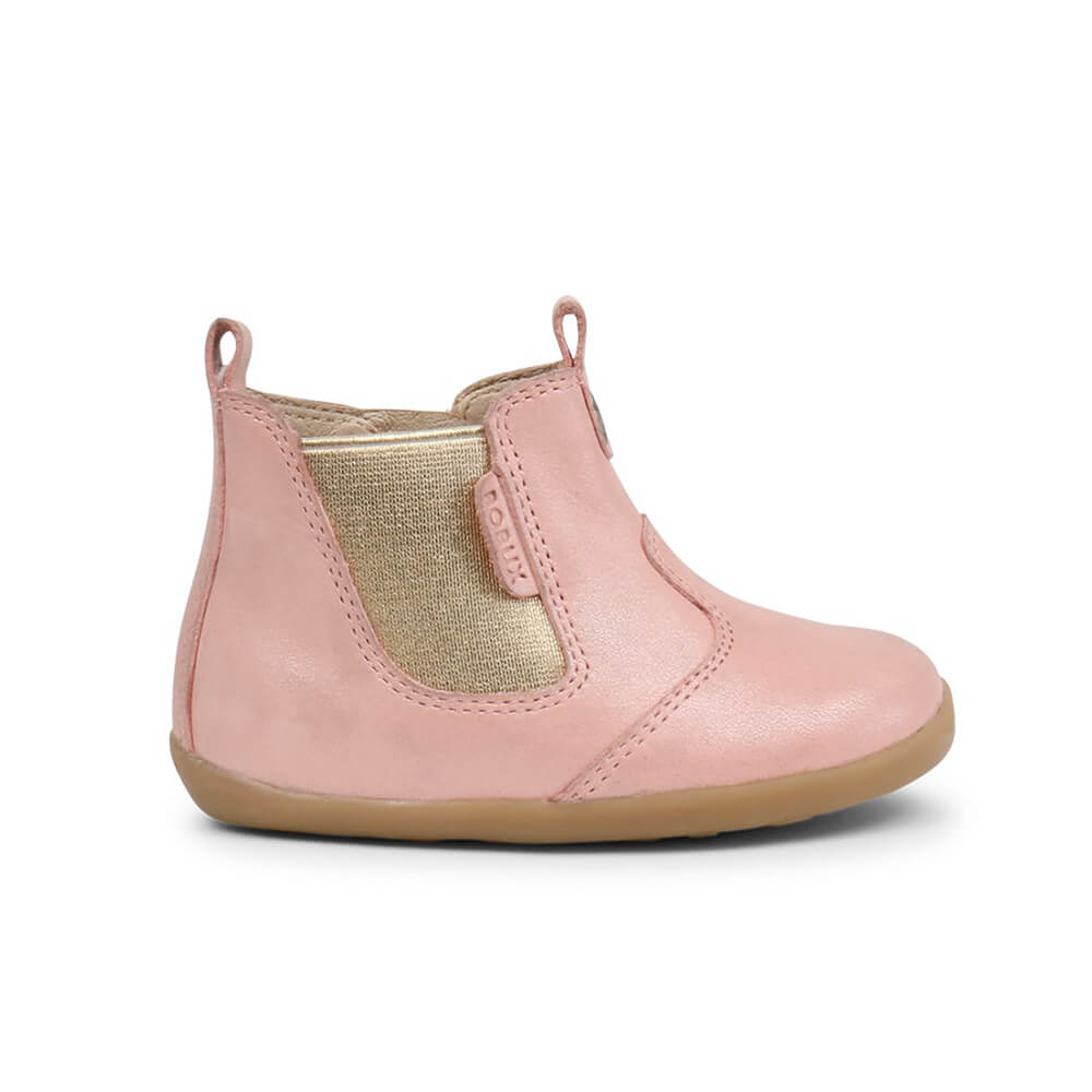 Bobux Jodphur Step Up Boots – Blush Shimmer side