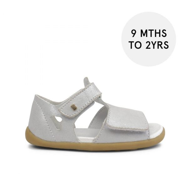 Bobux Step-Up Mirror Sandal - Silver Shimmer