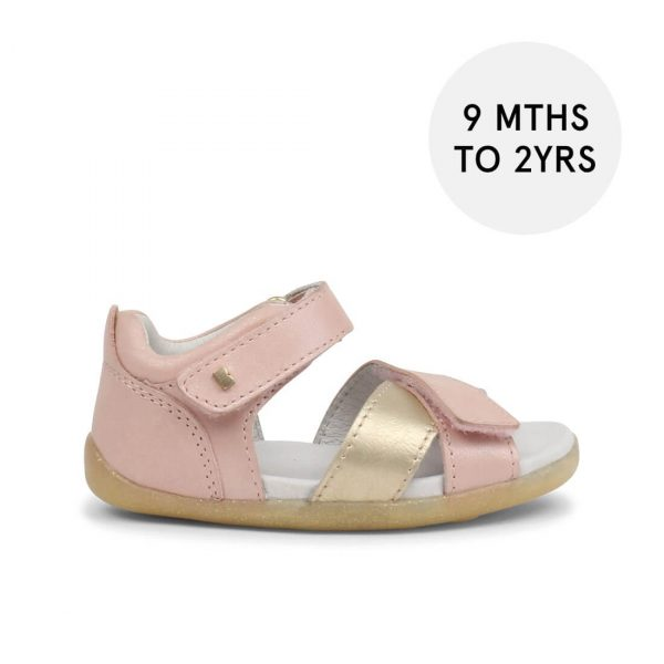 Bobux Step-Up Sail Sandal - Pink Blush + Misty Gold