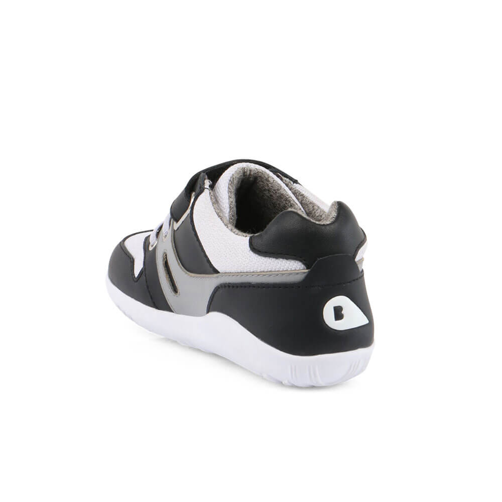 Bobux Tune Lo Top Sneaker - Black back left